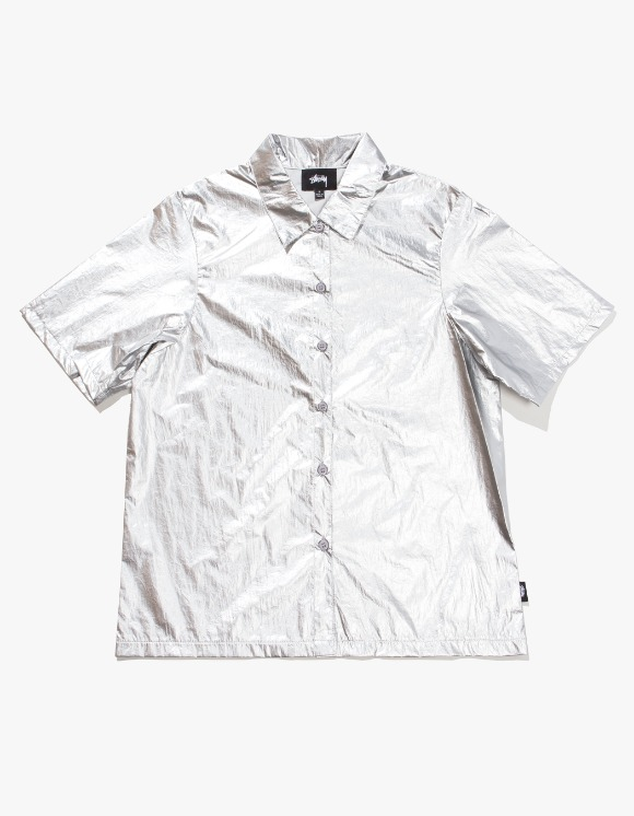 Stussy Shiny Button Down - Silver | HEIGHTS. | 하이츠 온라인 스토어
