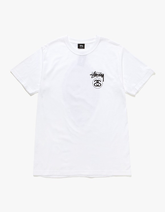 Stussy Stock Link Tee - White | HEIGHTS. | 하이츠 온라인 스토어