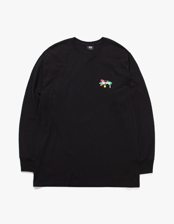 Stussy Dot Collage L/S Tee - Black | HEIGHTS. | 하이츠 온라인 스토어