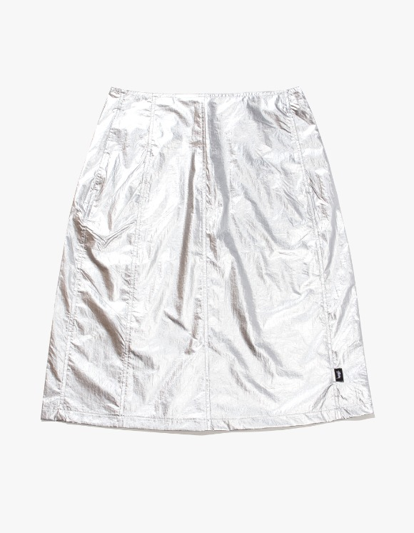 Stussy Shiny Panel Skirt - Silver | HEIGHTS. | 하이츠 온라인 스토어