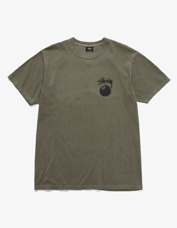 Stussy 8 Ball Pig. Dyed Tee - Olive | HEIGHTS. | 하이츠 온라인 스토어