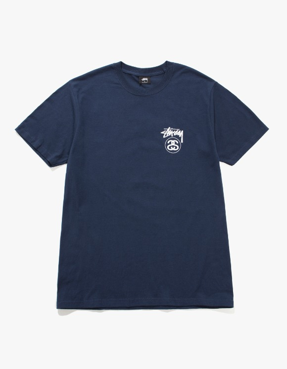 Stussy Stock Link Tee - Navy | HEIGHTS. | 하이츠 온라인 스토어