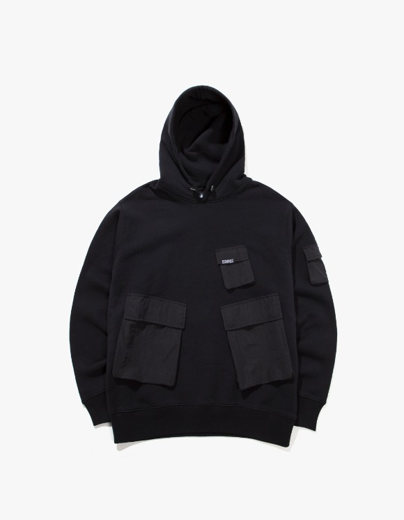 Stussy Cargo Fleece Hood - Black | HEIGHTS. | 하이츠 온라인 스토어