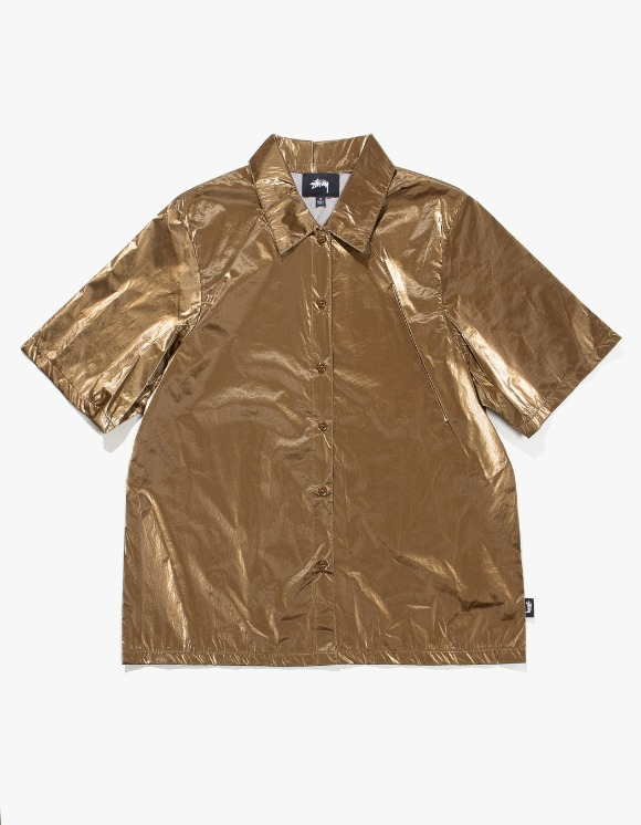 Stussy Shiny Button Down - Bronze | HEIGHTS. | 하이츠 온라인 스토어