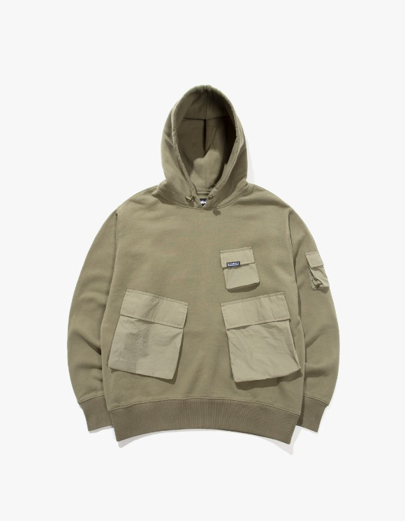 Stussy Cargo Fleece Hood - Khaki | HEIGHTS. | 하이츠 온라인 스토어