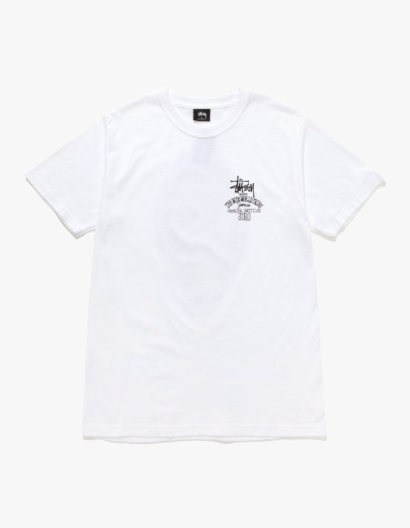Stussy Jamaica World Tribe Tee - White | HEIGHTS. | 하이츠 온라인 스토어