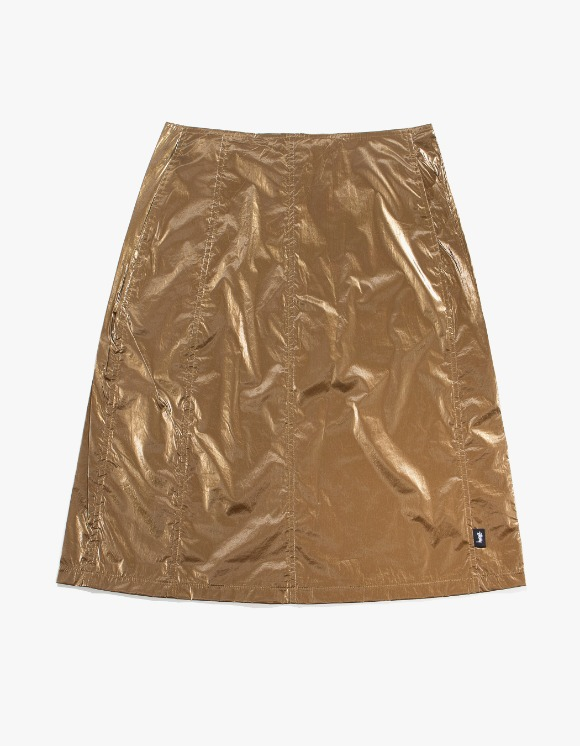 Stussy Shiny Panel Skirt - Bronze | HEIGHTS. | 하이츠 온라인 스토어