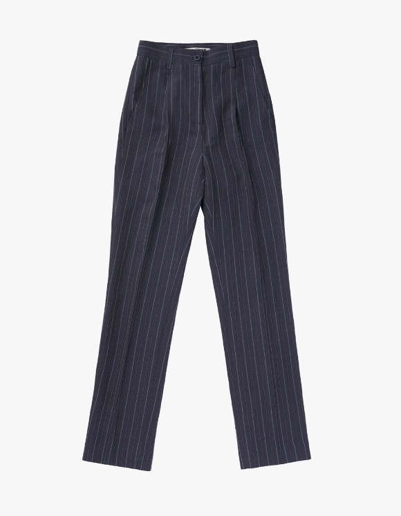 MISCHIEF Striped Long Suit Pants - Grey | HEIGHTS. | 하이츠 온라인 스토어