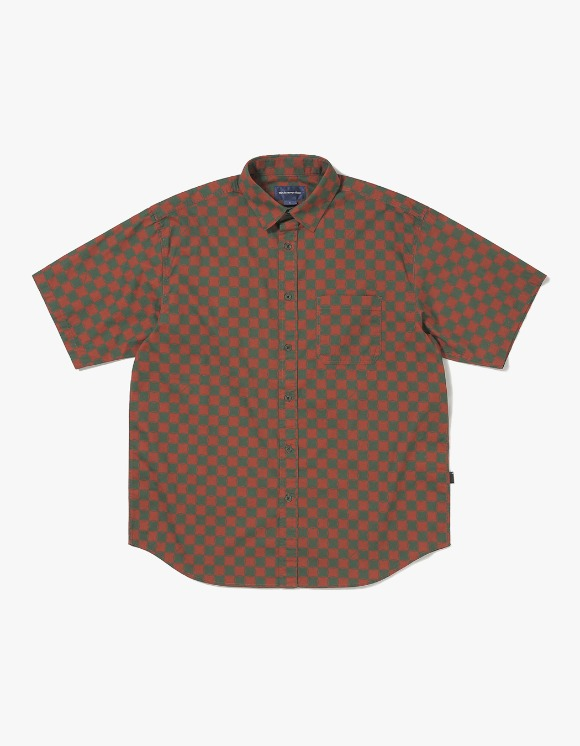 thisisneverthat CS Check S/S Shirt - Brown/Green | HEIGHTS. | 하이츠 온라인 스토어