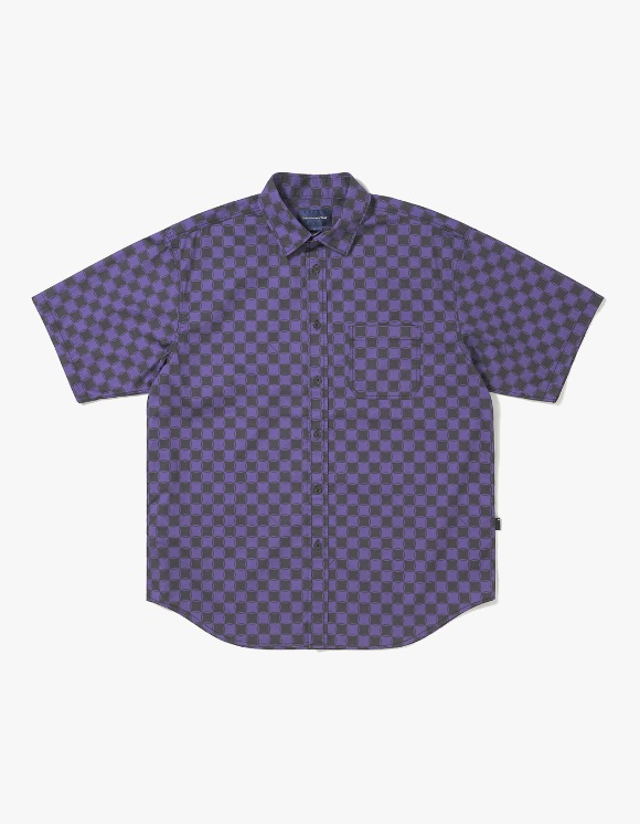 thisisneverthat CS Check S/S Shirt - Black/Purple | HEIGHTS. | 하이츠 온라인 스토어