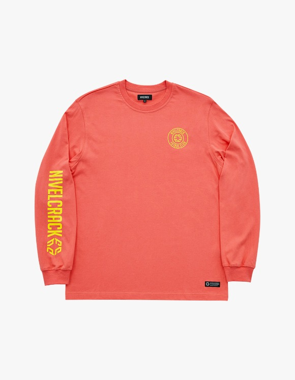 NIVELCRACK Club L/S Tee - Coral | HEIGHTS. | 하이츠 온라인 스토어