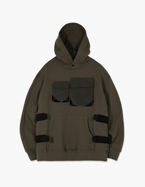 LORES Tactical Pullover Hoodie - Olive | HEIGHTS. | 하이츠 온라인 스토어