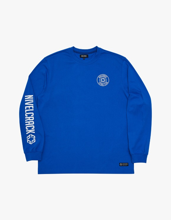 NIVELCRACK Club L/S Tee - Blue | HEIGHTS. | 하이츠 온라인 스토어