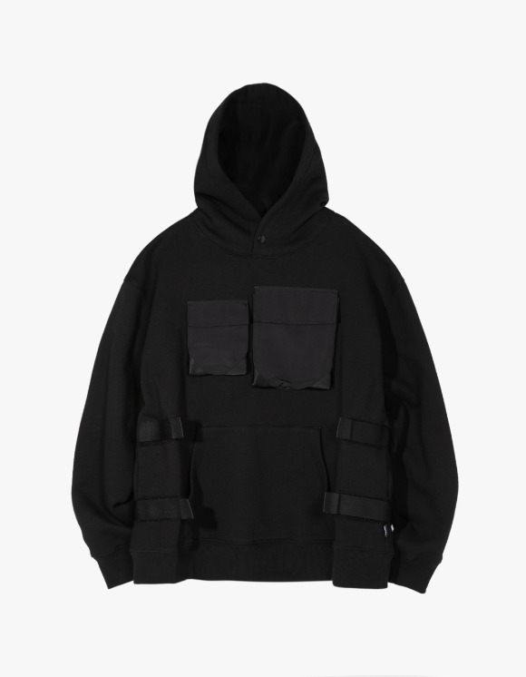 LORES Tactical Pullover Hoodie - Black | HEIGHTS. | 하이츠 온라인 스토어