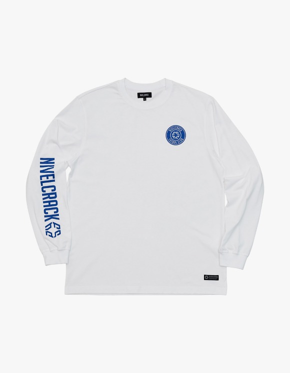 NIVELCRACK Club L/S Tee - White | HEIGHTS. | 하이츠 온라인 스토어