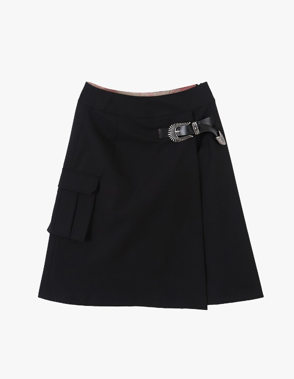 Media(82) Buckle Skirt - Black | HEIGHTS. | 하이츠 온라인 스토어