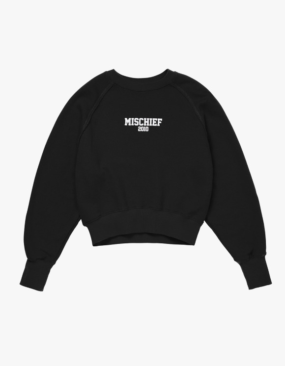 MISCHIEF MSCHF 2010 Cropped Crewneck - Black | HEIGHTS. | 하이츠 온라인 스토어