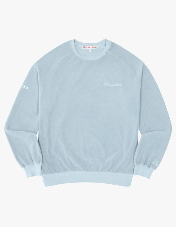 Richardson Velour Drop Shoulder Crewneck - Blue | HEIGHTS. | 하이츠 온라인 스토어