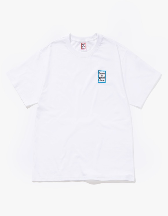 have a good time Mini Blue Frame S/S Tee - White | HEIGHTS. | 하이츠 온라인 스토어