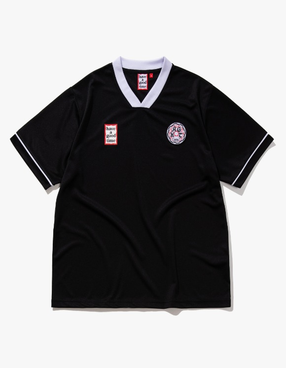 have a good time HAGT Soccer S/S Jersey - Black | HEIGHTS. | 하이츠 온라인 스토어