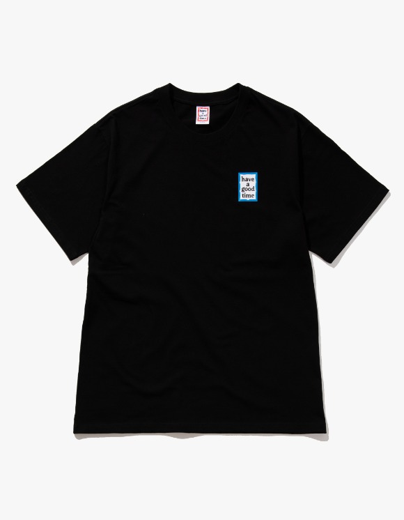 have a good time Mini Blue Frame S/S Tee - Black | HEIGHTS. | 하이츠 온라인 스토어