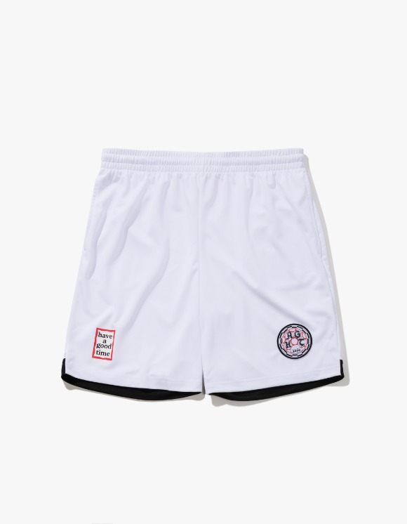 have a good time HAGT Soccer Shorts - White | HEIGHTS. | 하이츠 온라인 스토어