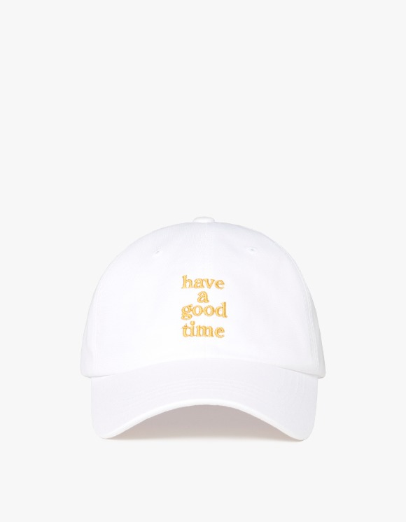 have a good time Embroidered Logo 6 Panel Cap - White | HEIGHTS. | 하이츠 온라인 스토어