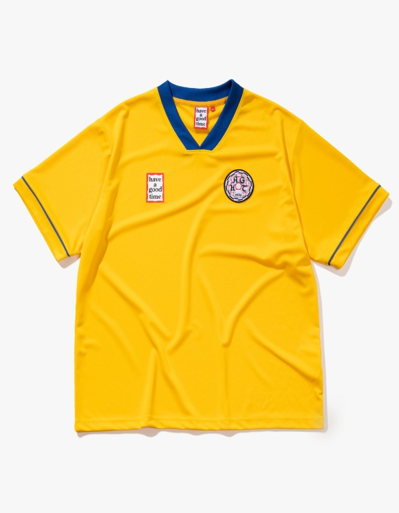 have a good time HAGT Soccer S/S Jersey - Yellow | HEIGHTS. | 하이츠 온라인 스토어