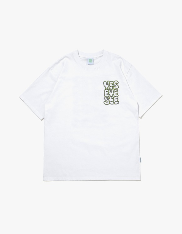 yeseyesee Y.E.S Neon Tee - White | HEIGHTS. | 하이츠 온라인 스토어