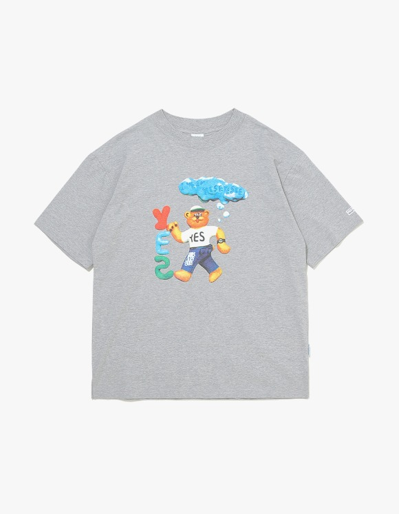 yeseyesee Teddy Bear Tee - Grey | HEIGHTS. | 하이츠 온라인 스토어