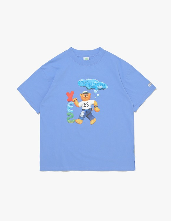 yeseyesee Teddy Bear Tee - Sky Blue | HEIGHTS. | 하이츠 온라인 스토어