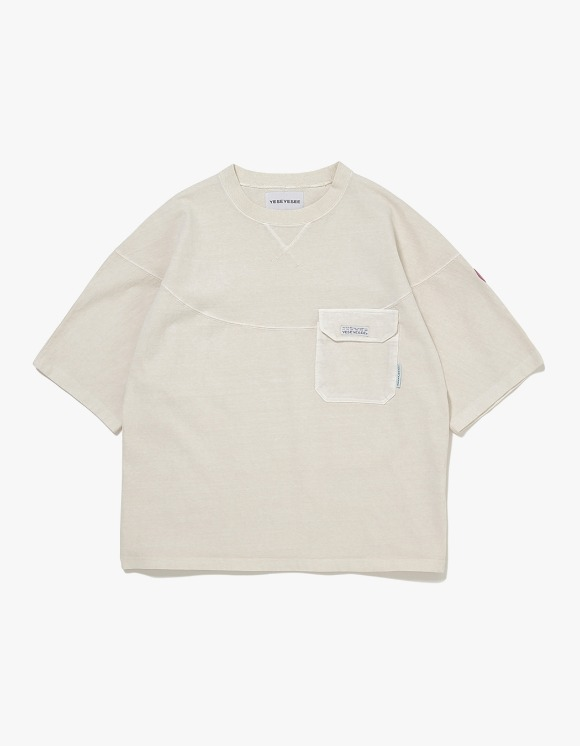 yeseyesee Wide 3 Panel Tee - Ivory | HEIGHTS. | 하이츠 온라인 스토어