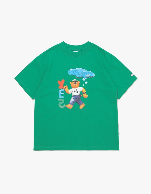 yeseyesee Teddy Bear Tee - Green | HEIGHTS. | 하이츠 온라인 스토어