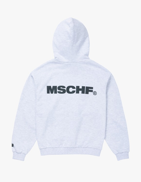 MISCHIEF Slogan Hoodie - White Melange | HEIGHTS. | 하이츠 온라인 스토어