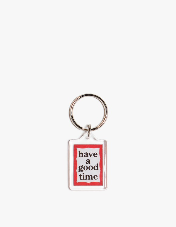 have a good time Red & Blue Frame Key Chain | HEIGHTS. | 하이츠 온라인 스토어