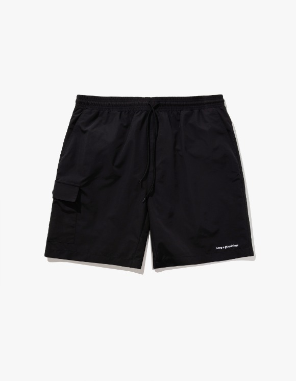 have a good time Aqua Shorts - Black | HEIGHTS. | 하이츠 온라인 스토어