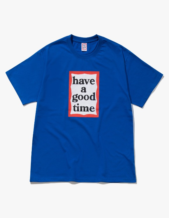 have a good time Frame S/S Tee - Cobalt Blue | HEIGHTS. | 하이츠 온라인 스토어
