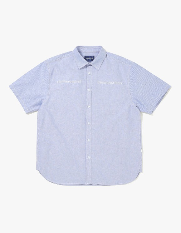 thisisneverthat MI-Logo Oxford S/S Shirt - Blue | HEIGHTS. | 하이츠 온라인 스토어