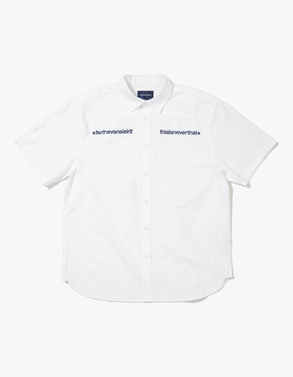 thisisneverthat MI-Logo Oxford S/S Shirt - White | HEIGHTS. | 하이츠 온라인 스토어