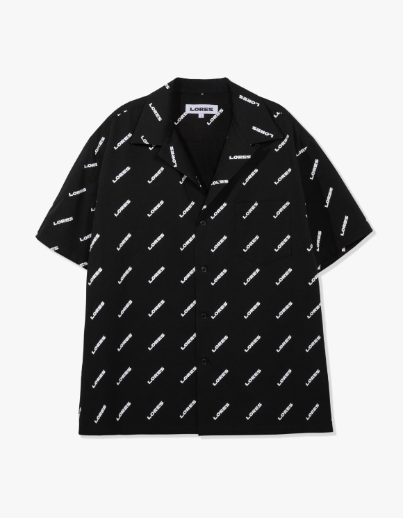 LORES Logo Pattern Shirts - Black | HEIGHTS. | 하이츠 온라인 스토어