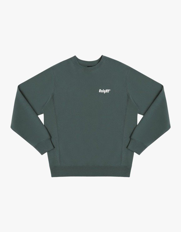 Only NY Court Logo Crewneck - Green | HEIGHTS. | 하이츠 온라인 스토어