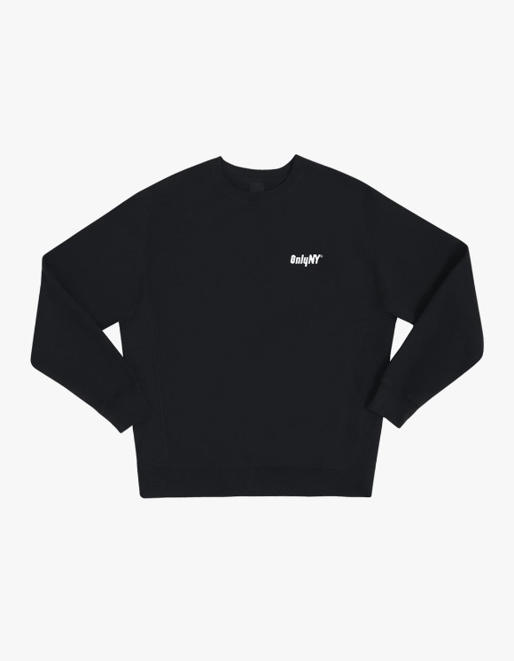 Only NY Court Logo Crewneck - Black | HEIGHTS. | 하이츠 온라인 스토어