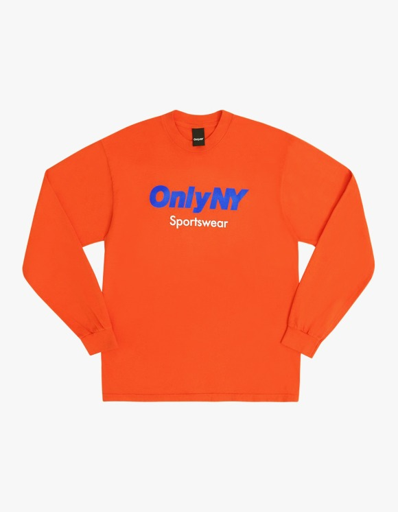 Only NY Sportswear Logo L/S Tee - Orange | HEIGHTS. | 하이츠 온라인 스토어