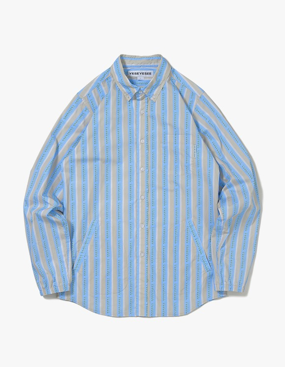 yeseyesee Logo Stripe Shirts - Beige | HEIGHTS. | 하이츠 온라인 스토어