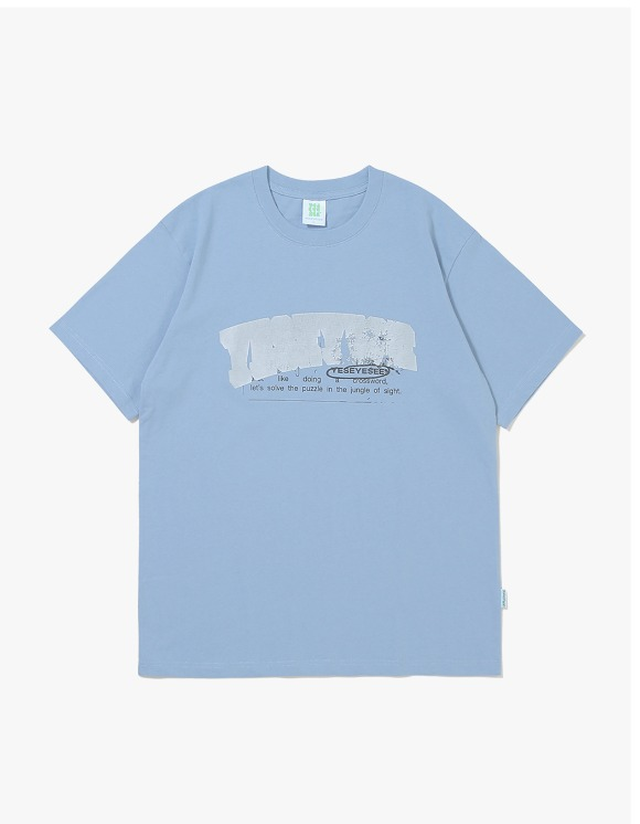 yeseyesee Pop Logo Tee - Sky Blue | HEIGHTS. | 하이츠 온라인 스토어
