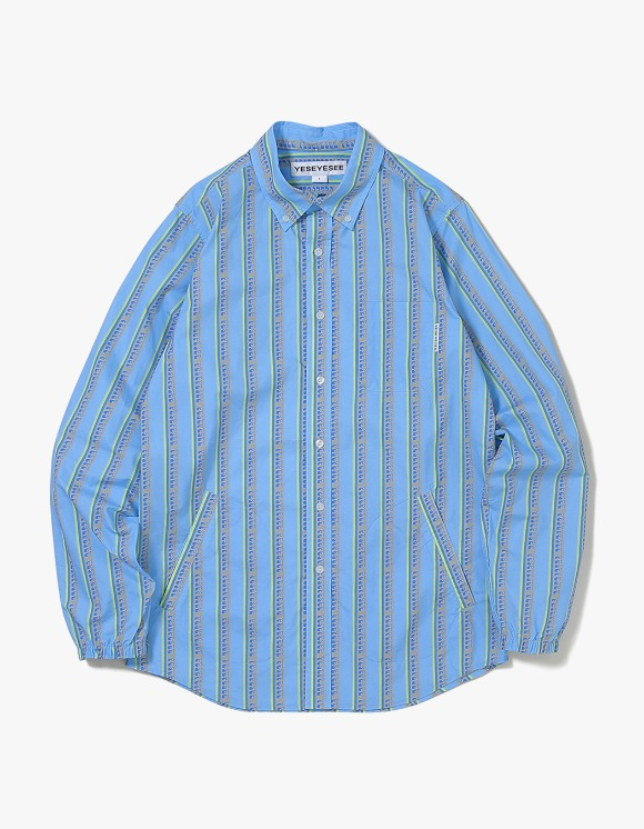 yeseyesee Logo Stripe Shirts - Mint | HEIGHTS. | 하이츠 온라인 스토어