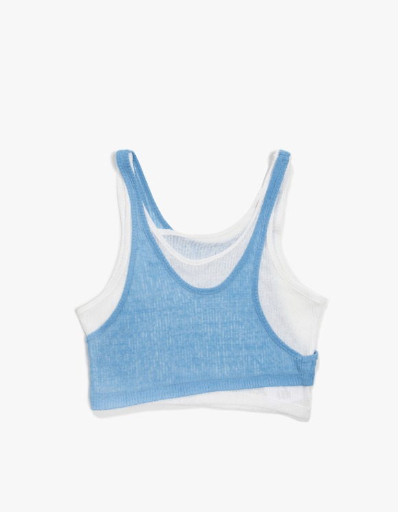 KIJUN Layer Tank Top - Blue White | HEIGHTS. | 하이츠 온라인 스토어