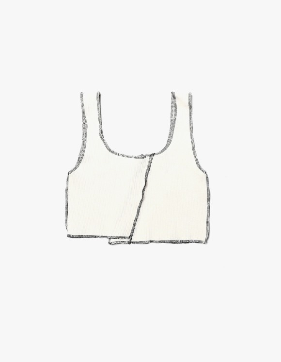 s/e/o Overlock Tank Top - Ivory | HEIGHTS. | 하이츠 온라인 스토어