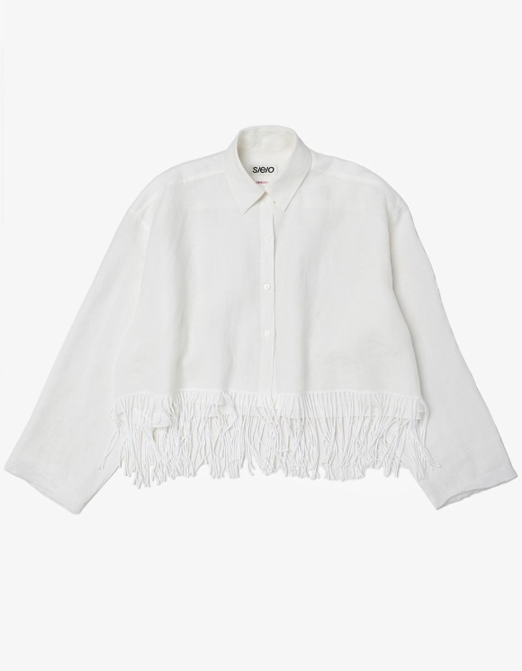 s/e/o Linen Fringe Shirt | HEIGHTS. | 하이츠 온라인 스토어