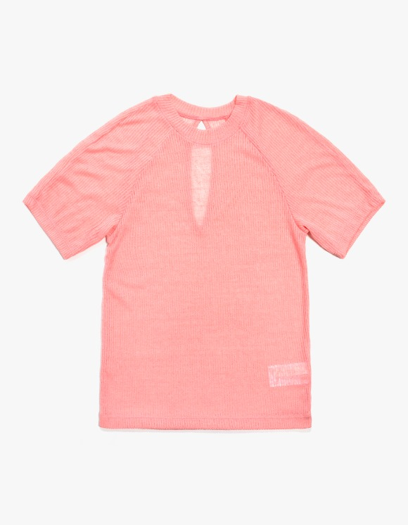 KIJUN Back Slit T-shirts - Coral Pink | HEIGHTS. | 하이츠 온라인 스토어